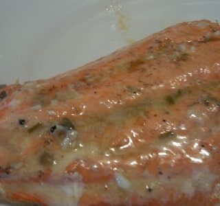 Perfectly Grilled Salmon with Lemon Chive Butter