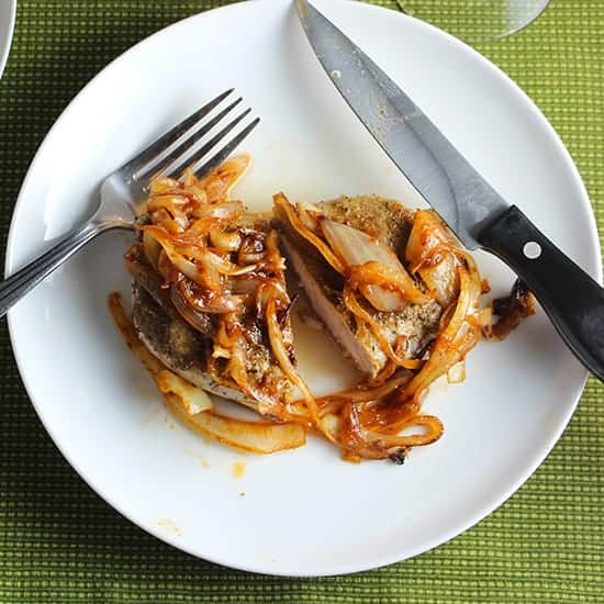 Cumin Sage Rubbed Pork Chops recipe
