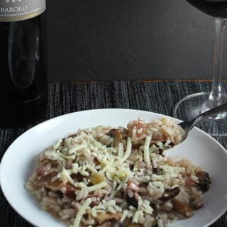 Wild Mushroom Risotto & a Barolo–Now That's a Match!
