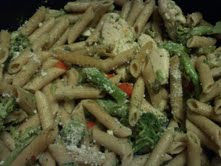 Penne with Garlicky Chicken & Broccoli