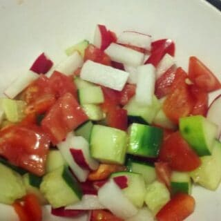 Cucumber Salad with Maple Mustard Vinaigrette