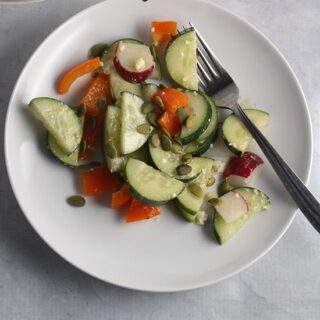 Cucumber Radish Salad with Maple Vinaigrette