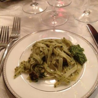 Course 2: Pasta with Pesto, Potatoes and an Italian Red