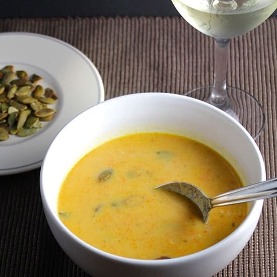 Wine Pairing for Carrot Ginger Soup