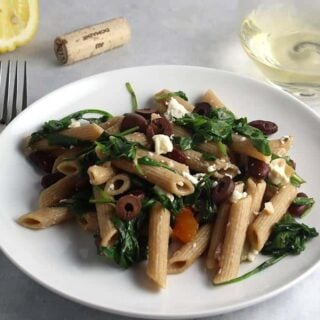 Penne with Arugula, Garlic and Beans
