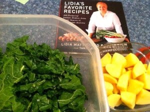 Swiss Chard Potatoes from Lidia's Favorite Recipes cookbook.