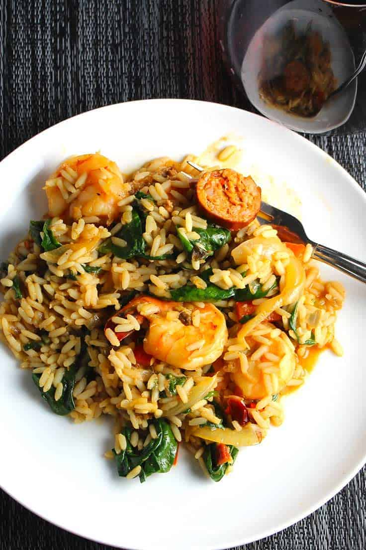 Healthier Sausage and Shrimp Jambalaya recipe.
