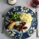 Herb Butter Roasted Chicken with Shiitake Mushroom Sauce