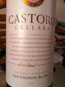 castoro cellars sauvignon blanc