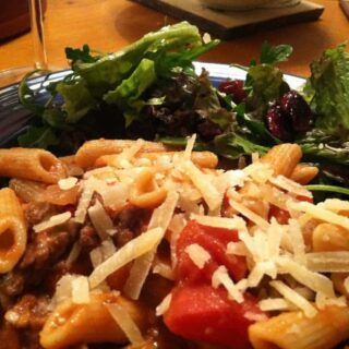 Anna's Dolcetto with Pasta and Abruzzi-Style Lamb Sauce