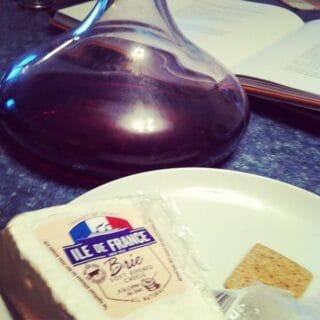 Ile de France Brie with a Côtes du Roussillon Red Wine