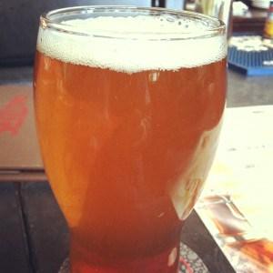 enjoying a beer in Saratoga Springs