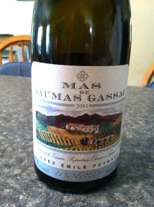 Bottle of Mas de Daumas Gassac Cuvée Emile Peynaud is an excellent bottle of wine.