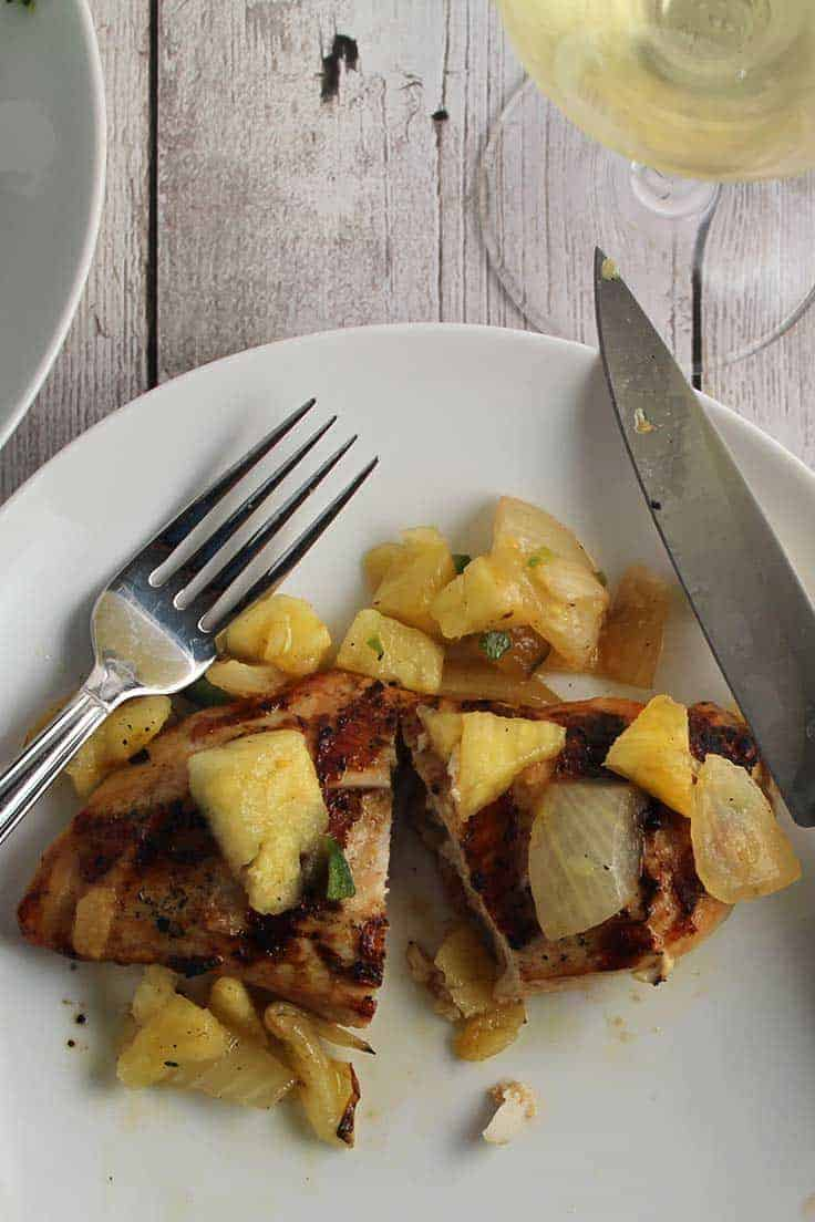 Grilled Chicken with Pineapple Salsa is a full-flavored recipe for enjoying chicken from the grill.