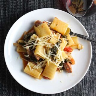 Rigatoni with Kale and Sausage