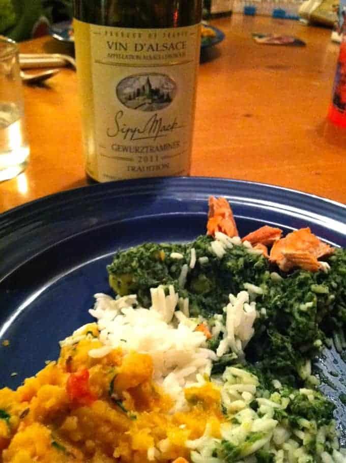 Sipp Mack Gewurztraminer wine with Indian food. | cookingchatfood.com