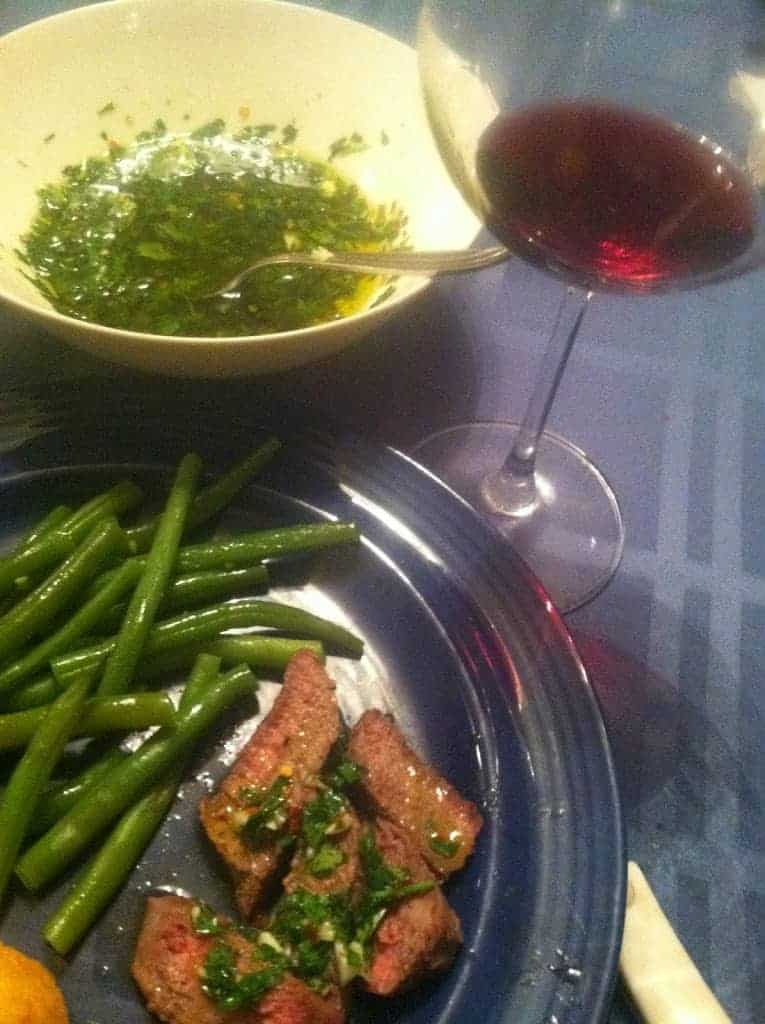 Roasted Sirloin served with Chimichurri Sauce. Cooking Chat recipe.
