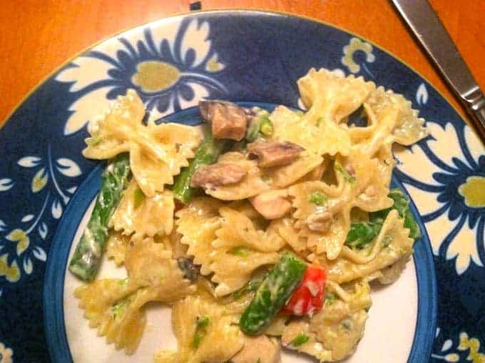 Creamy Bow Ties with Chicken recipe