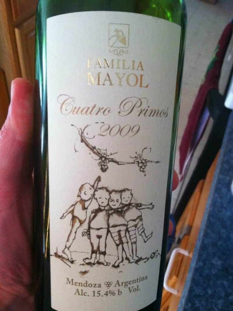 "2009 Familia Mayol Quatro Primos. via Cooking Chat ""Eleven Wines to Try"""