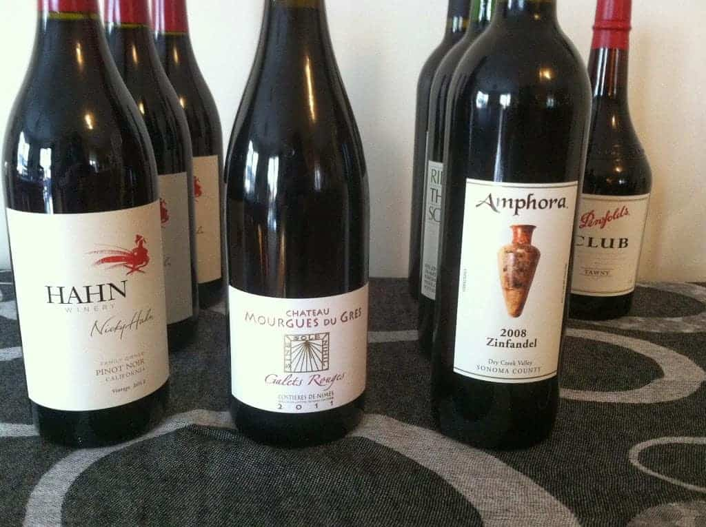 Amphora Zinfandel in a lineup of wines to try. Cooking Chat post. #wine