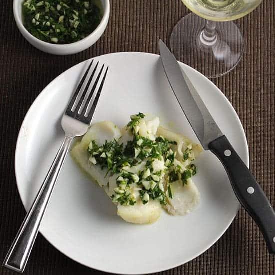 roast cod with parsley pesto