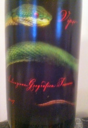 2007 Tenuta San Pietro Viper Super Tuscan. Cooking Chat April #wine pick.