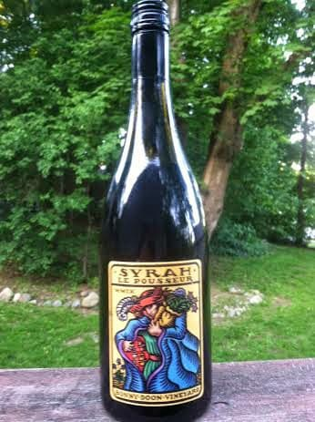 Bonny Doon Le Pousseur Syrah is a good quality wine that pairs well with pork.