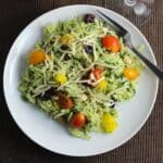 orzo salad with kale pesto