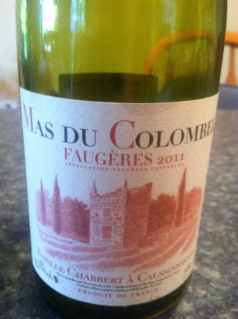 2011 Mas Du Colombel Grenache Syrah blend from Faugeres in the Languedoc. Very good #wine!