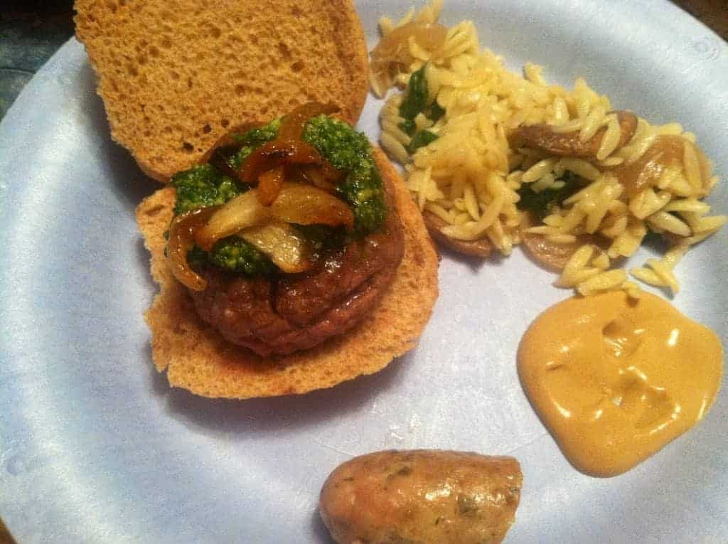 Lamb Sliders topped with Provencal Pesto. Easy and tasty Cooking Chat recipe!