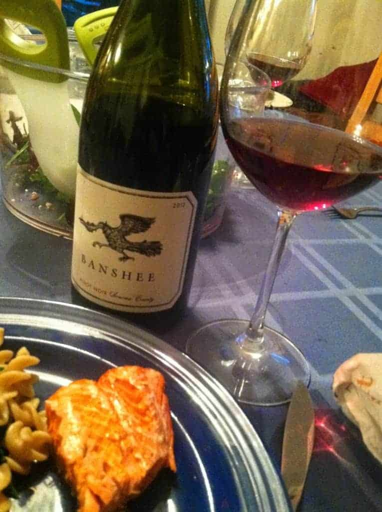 "Wine Pairing Weekend #2 focuses on ""Refreshing Pairings"". Could the Banshee Pinot Noir with salmon qualify?"