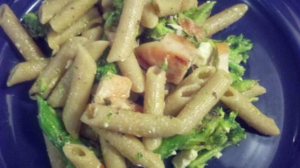 Penne with Grilled Chicken, Broccoli and Garlic via Cooking Chat
