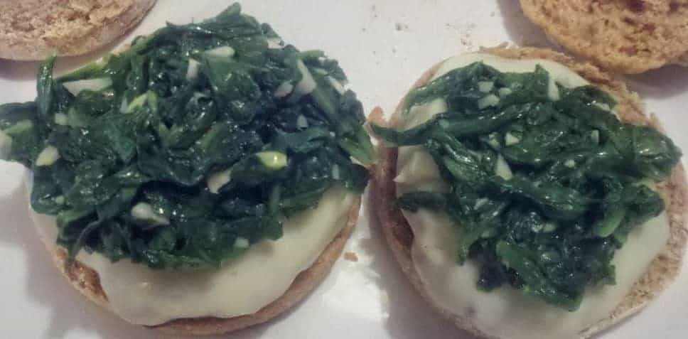 """Burgers topped with Garlicky Arugula. 1 of Cooking Chat's """"4 for the Fourth"""""""