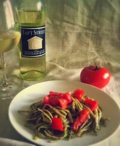 Basil Pesto with Sauvignon Blanc pairing.