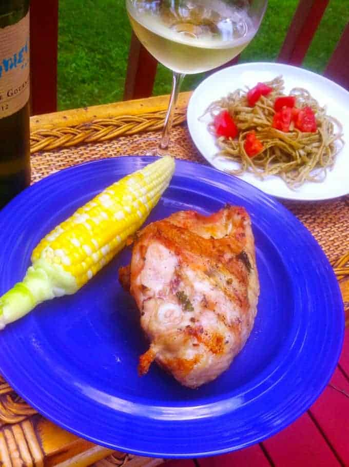 Simply Scrumptious Grilled Chicken with corn