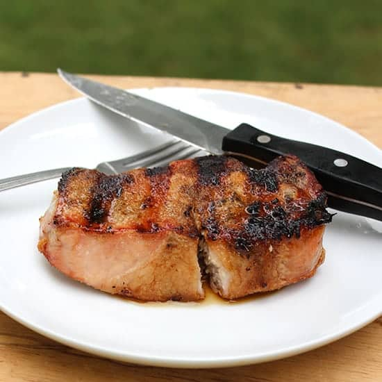 Heaven Sent Grilled Pork Chops for Labor Day Grilling Roundup