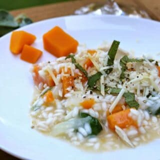 Risotto with Butternut Squash, Chicken and Sage for #SundaySupper