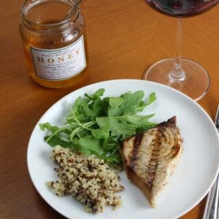 Grilled Swordfish with Garlic Soy Marinade #WeekdaySupper