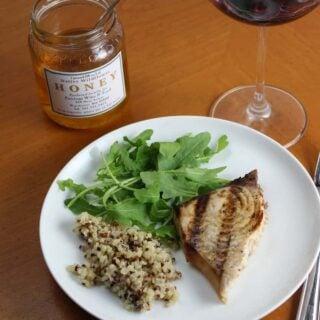 Grilled Swordfish with Garlic Soy Marinade #WeekdaySupper