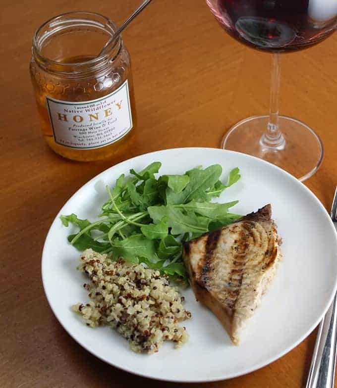 grilled swordfish paired with a Pinot Noir