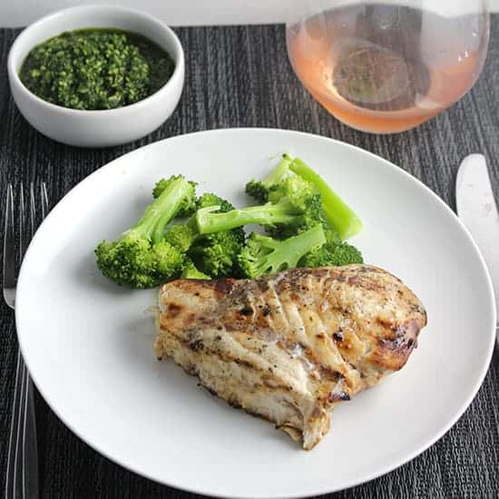 Chateau de Pibarnon Bandol Rosé paired with grilled swordfish.
