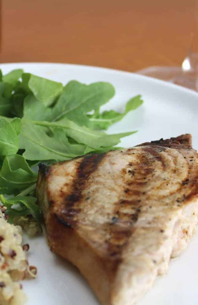 grilled swordfish with garlic soy marinade makes is an easy and healthy perfect for dinner on a busy weekday.