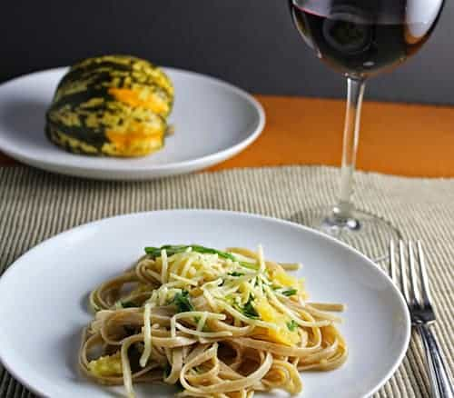 Linguine with Roasted Carnival Squash