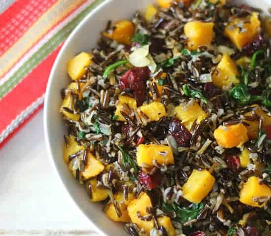 Butternut Squash Wild Rice from Peanut Butter & Peppers.