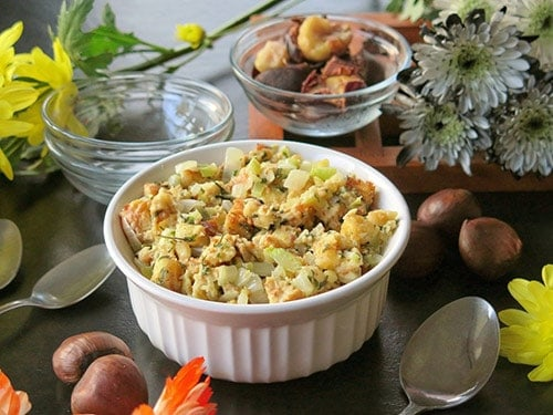 Chestnut Stuffing from Cindy's Recipes and Writings.