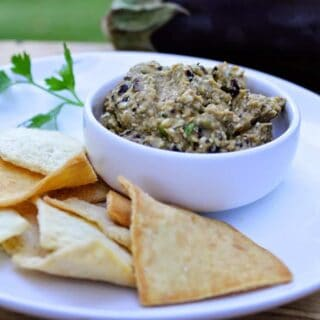 Spicy Eggplant Dip for #SundaySupper