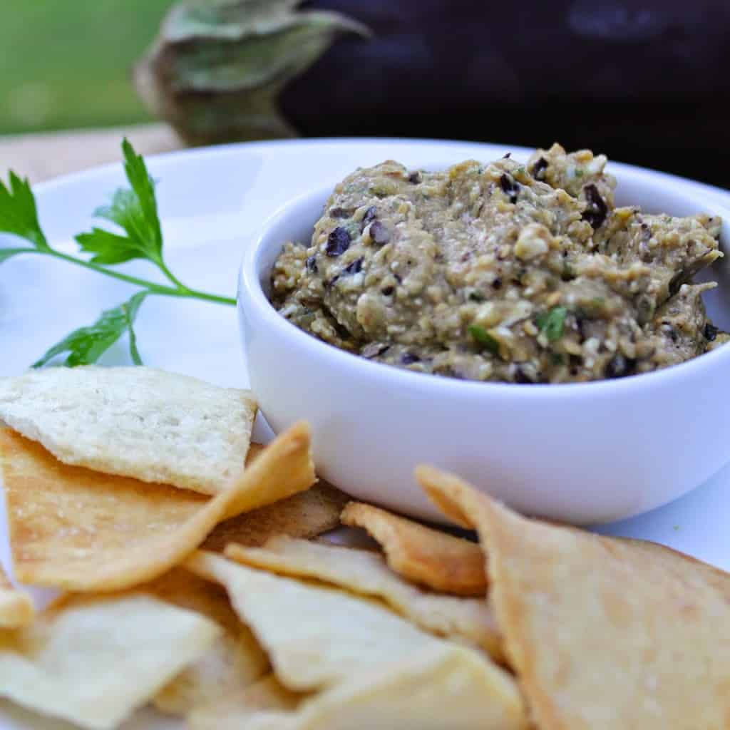 Spicy Eggplant Dip for #SundaySupper. Cooking Chat recipe
