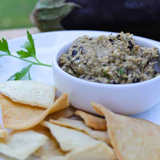 Spicy Eggplant Dip for Super Easy Appetizers Roundup
