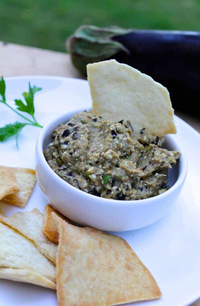Spicy Eggplant Dip is a creative and healthy appetizer recipe with lots of flavor.