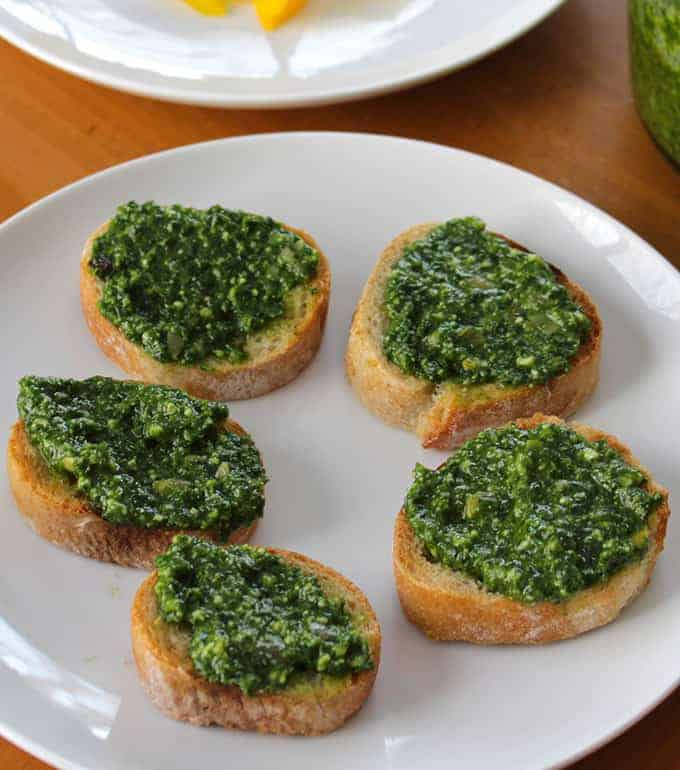 Kale Pesto Crostini recipe